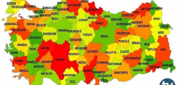 Türkiye'de bulunan il, ilçe ve köylerin Kürtçe isimleri