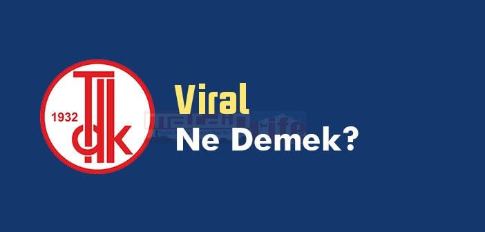 Viral ne demek? TDK'ya göre Viral kelime anlamı nedir? Viral sözlük anlamı