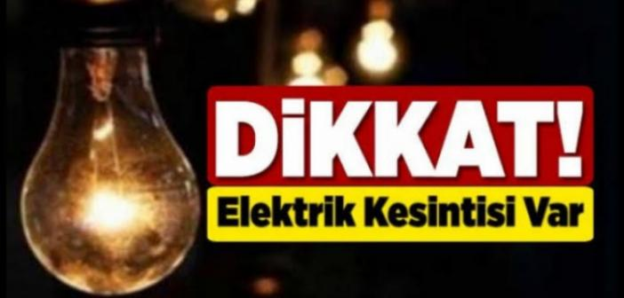 Bu Mahalleler Dikkat! Elektrik Kesintisi Olacak