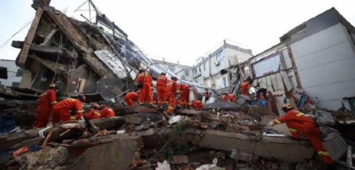 Çin'de otel çöktü: Bir ölü 10 kişi enkaz altında