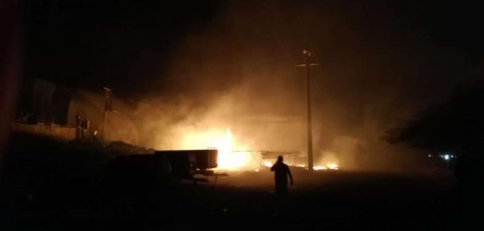 Diyarbakır'ın Ergani ilçesinde çıkan yangında faciadan dönüldü