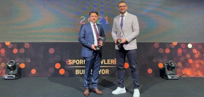 Kaymakam Çam'a 'spora destek veren yılın idarecisi' ödülü