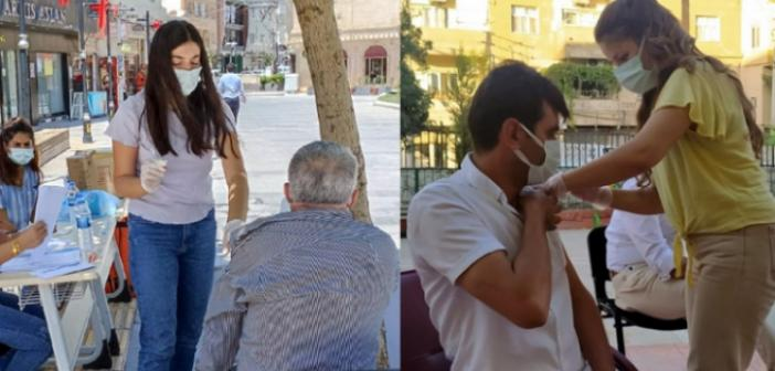 Kaymakamlık ve Belediyeden COVİD-19 Aşı uygulamasına destek