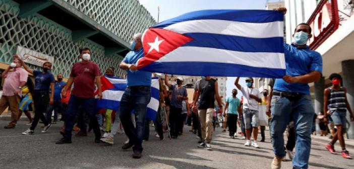 Küba'da hükümet karşıtı gösteriler devam ediyor