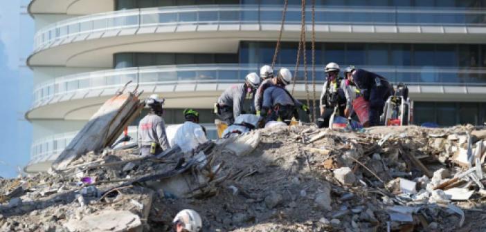 Miami'de çöken binada ölenlerin sayısı 36'ya yükseldi: 109 kişi halen kayıp