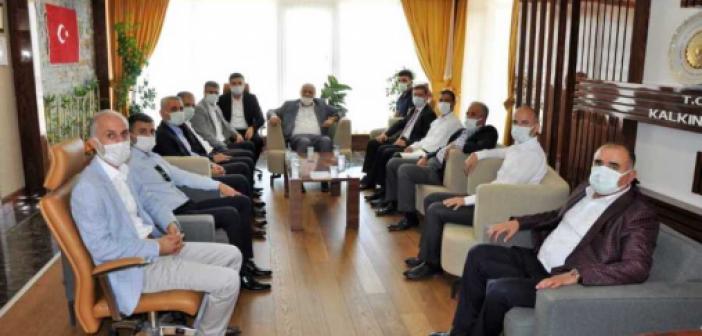 Oda ve Borsa Başkanlarından DİKA'yı ziyaret etti