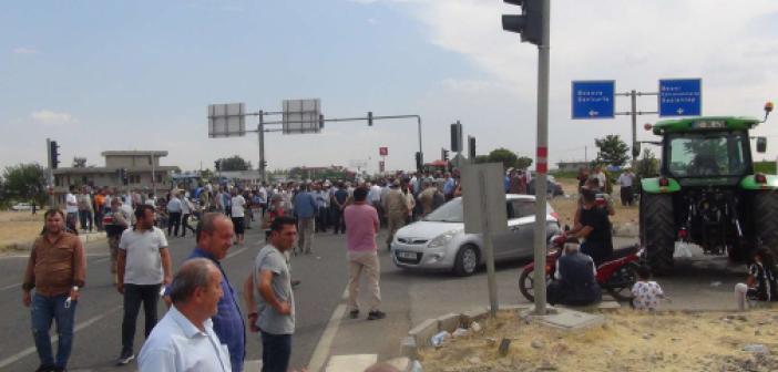 Üreticilerin kapattığı yol araç trafiğine açıldı