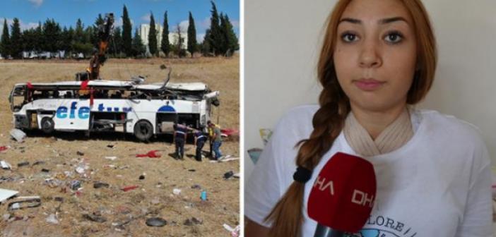 15 kişinin öldüğü otobüs kazasından emniyet kemeriyle kurtulan Didem, mucizeyi anlattı