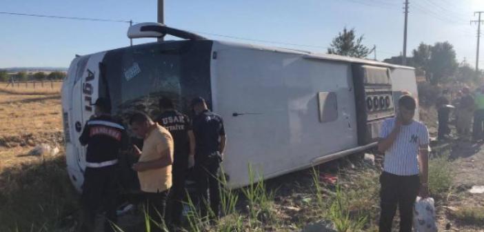 Otobüs şarampole yuvarlandı: 30 yaralı!