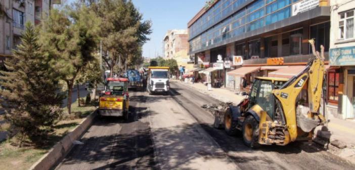Bismil İstasyon Caddesi yenileniyor