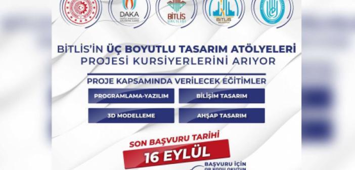"""Bitlis Belediyesi'nden """"Bitlis'in Üç Boyutlu Tasarım Atölyeleri"""" projesi"""