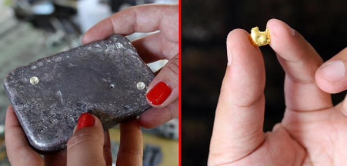 Çöp ve hurdacılardan topladıkları atıkları evlerinde ayrıştırıp altın elde ediyorlar