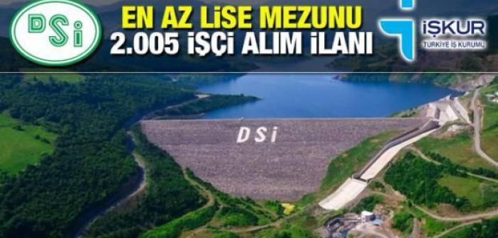 İŞKUR DSİ kura sonuçları isim listesi sorgulama: 2021 Devlet Su İşleri 2.005 işçi alımı yazılı ve sözlü sınav ne zaman? .