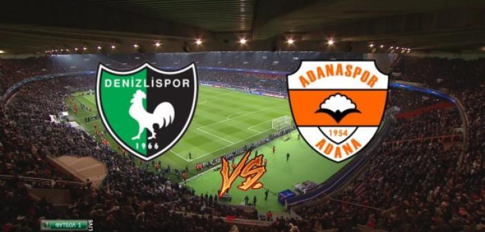 İşte Yukatel Denizlispor - Adanaspor A.Ş. maçında ilk 11'ler