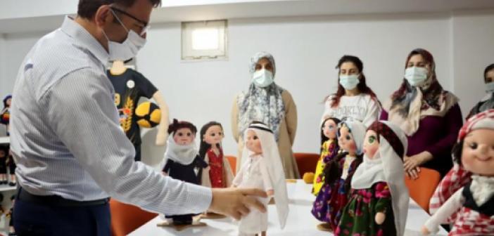 Kaymakam Çam Kadın Kursiyerlerin çalışmalarını inceledi