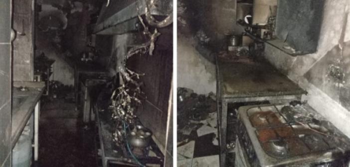 Mardin'de otelde korkutan yangın