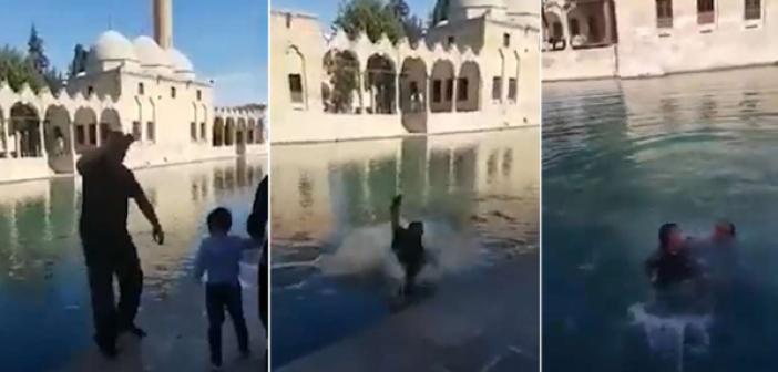 Balıklıgöl'de video çeken şahıs suya düştü