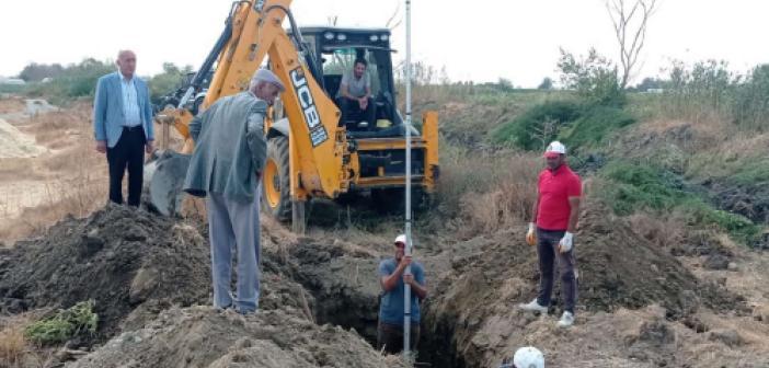 Balpınar'da kanalizasyon boru hattı çalışmalarına başlandı