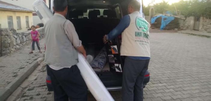 Bingöl Umut Kervanı düzenlediği TV programı ile toplanan yardımları muhtaç aileye ulaştırdı
