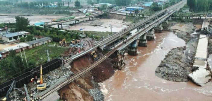 Çin'deki sel nedeniyle 120 binden fazla kişi tahliye edildi