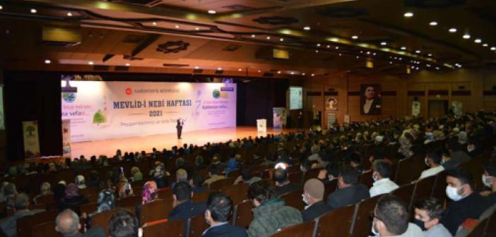 Gaziantep'te Mevlid-i Nebi programına halk yoğun ilgi gösterdi