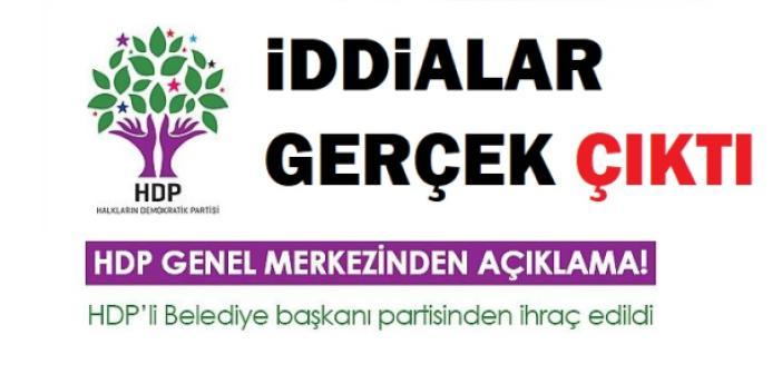 HDP, Mardin'deki başkana ihraç cezası verdi! İşte Gerekçesi