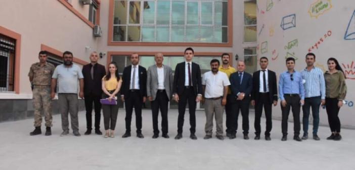 Kaymakam Çakır'dan yapımı devam eden okullara ziyaret