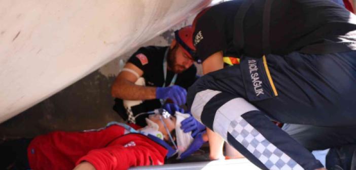 UMKE 5. Bölge Eğitim ve Tatbikat Kampında deprem tatbikatı yapıldı